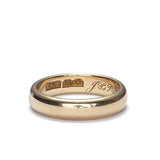 Vintage 18k gold wedding band c. 1896. #VR1213 - Leigh Jay & Co.