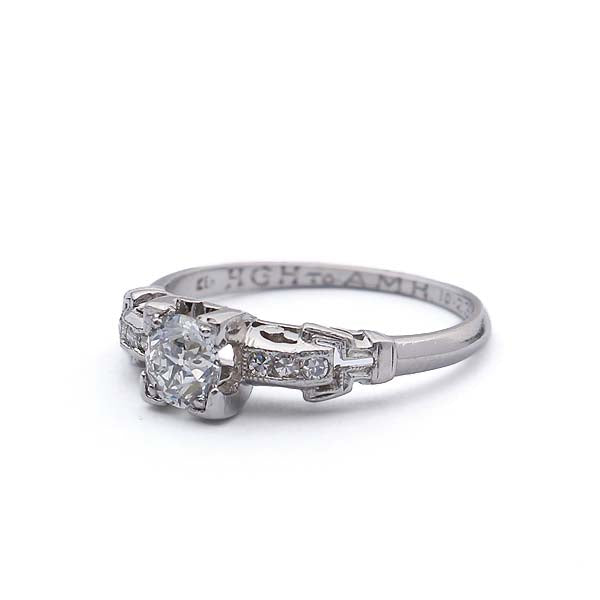 Circa 1930s Diamond engagement ring #VR140519-08 - Leigh Jay & Co.