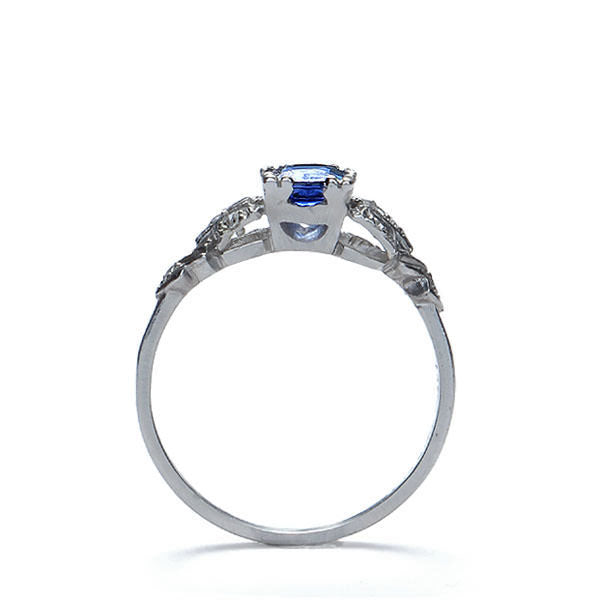 Art Deco Sapphire and diamond ring #VR140519-09 - Leigh Jay & Co.