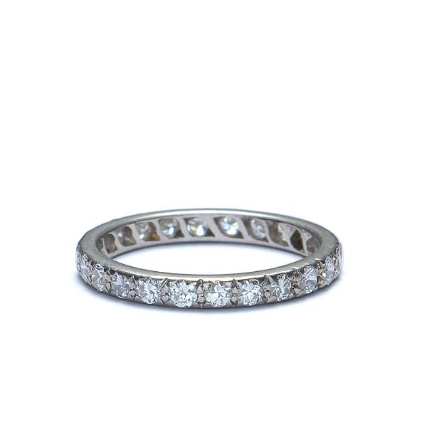 Mid-Century Diamond eterntiy wedding band. #VR140606-01 - Leigh Jay & Co.