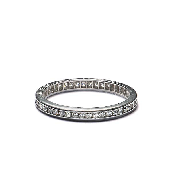 Circa 1940s Diamond eternity wedding band. #VR140610-06 - Leigh Jay & Co.