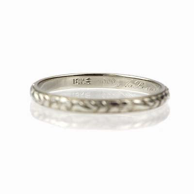 Circa 1930 Wedding band by J.R. Wood & Sons #VR140612-01 - Leigh Jay & Co.