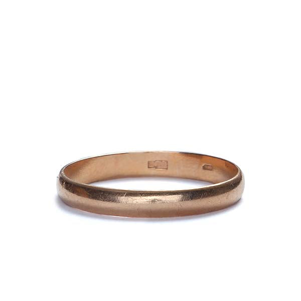 Midcentury wedding band #VR140619-0 - Leigh Jay & Co.