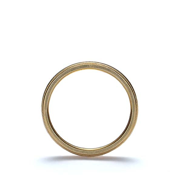 Contemporary 18k Yellow gold wedding band by Jabel. #VR140707-06 - Leigh Jay & Co.