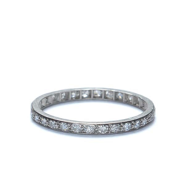 Art Deco Diamond Eternity Band #VR140804-02 - Leigh Jay & Co.