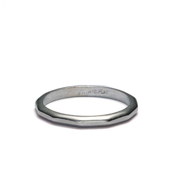 Vintage Facet-top Platinum wedding band #VR140811-01a - Leigh Jay & Co.