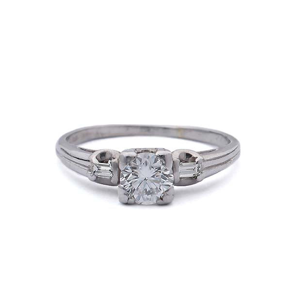 Midcentury Engagement ring by Granat Jewelers of San Francisco #VR140918-04 - Leigh Jay & Co.