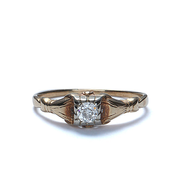 C. 1930s Diamond Engagement Ring. #VR140918-06 - Leigh Jay & Co.