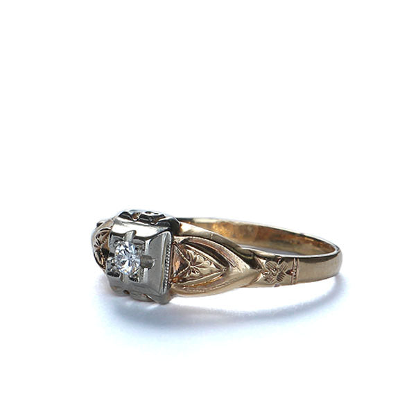 Art Deco Diamond Engagement ring #VR140919-14 - Leigh Jay & Co.