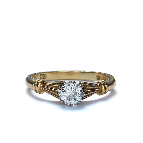 Contemporary Engagement ring crafted in an Antique Style. #VR141001-10 - Leigh Jay & Co.