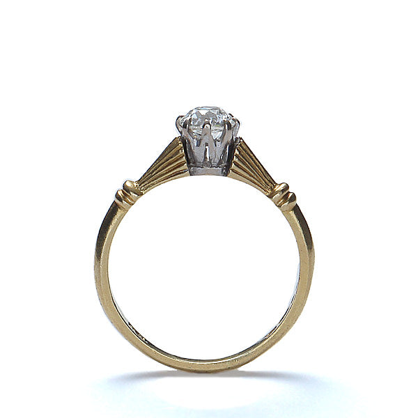 Contemporary Engagement ring crafted in an Antique Style. #VR141001-10