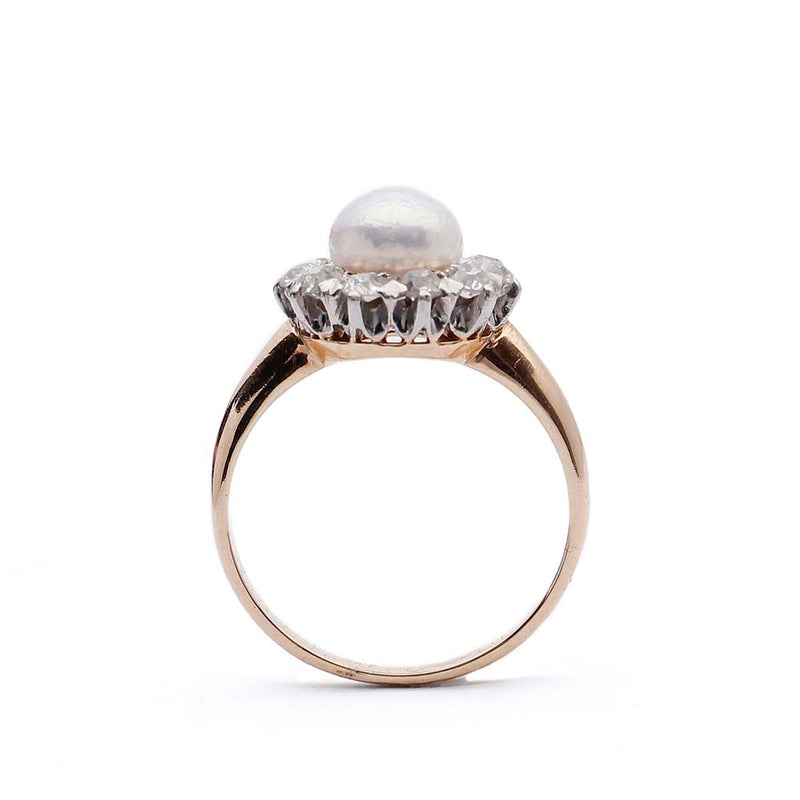 Belle Epoque Pearl and Diamond Ring. #VR141028-10