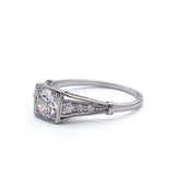 Art Deco Diamond Engagement Ring. #VR150415-02 - Leigh Jay & Co.
