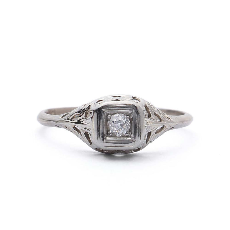 Circa 1920s Art Deco Engagement Ring #VR150421-02