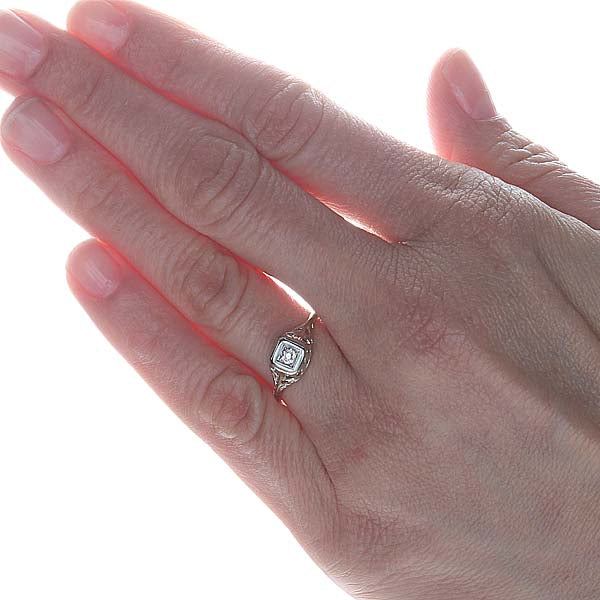 Circa 1920s Art Deco Engagement Ring #VR150421-02 - Leigh Jay & Co.