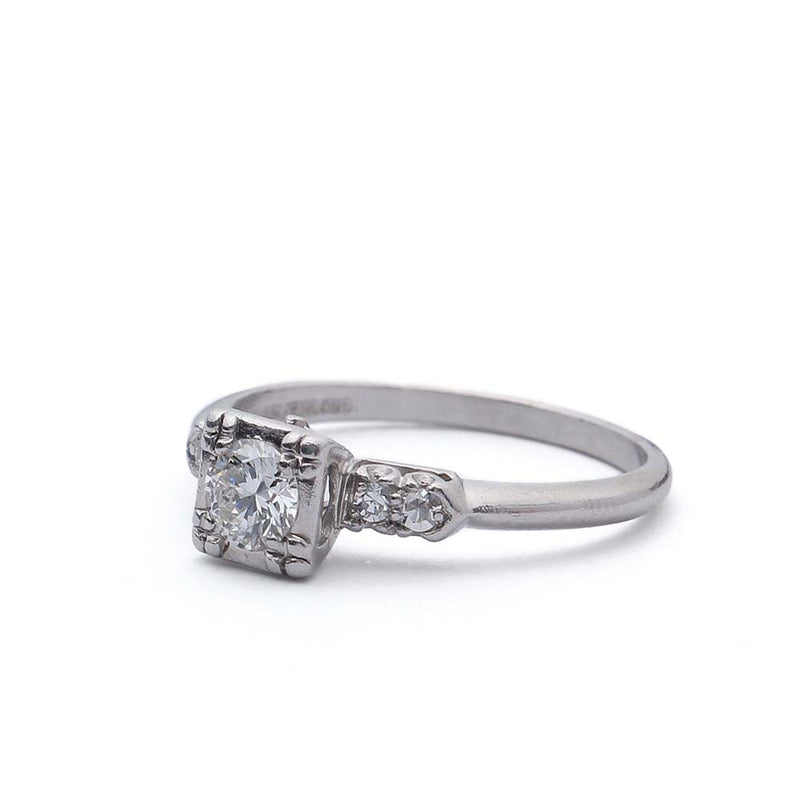 C. 1940s Diamond Engagement Ring. #VR150518-01 - Leigh Jay & Co.