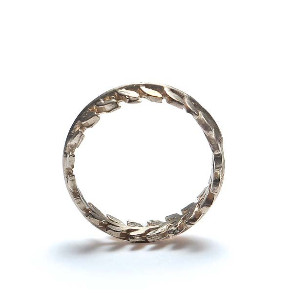 Contemporary Laurel Leaf Wedding band #VR150602-02 - Leigh Jay & Co.