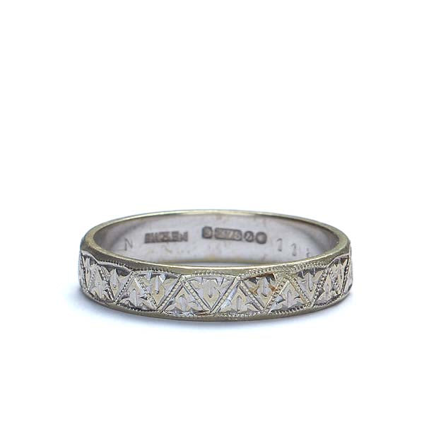Midcentury English Wedding Band #VR150622-01 - Leigh Jay & Co.