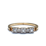 C. 1940s two-tone Diamond Band ring #VR150622-03 - Leigh Jay & Co.