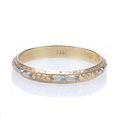 Vintage Wedding band #VR150622-12