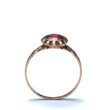 Antique Ring with Rhodolite Garnet. #VR150625-2 - Leigh Jay & Co.