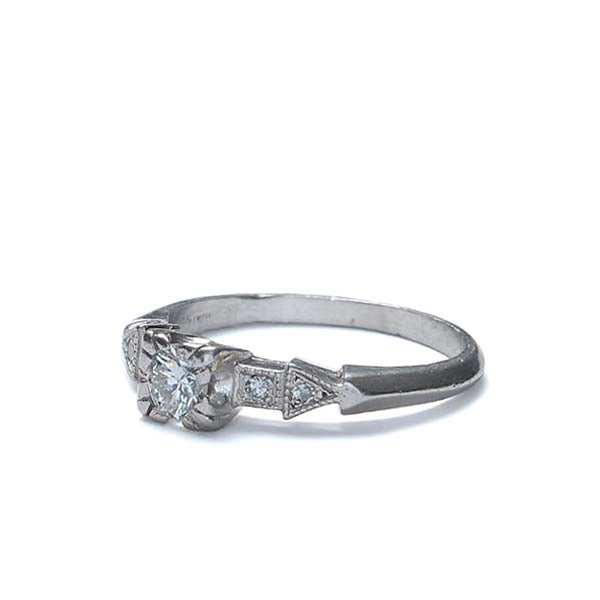 Art Deco Engagement Ring. #VR150723-02 - Leigh Jay & Co.