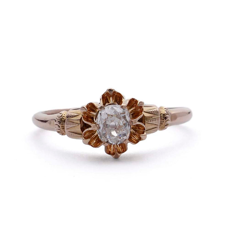 Victorian Diamond Engagement Ring #VR151007-07 - Leigh Jay & Co.