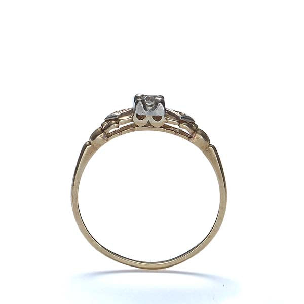 Circa 1940s Diamond engagement Ring #VR151027-01 - Leigh Jay & Co.
