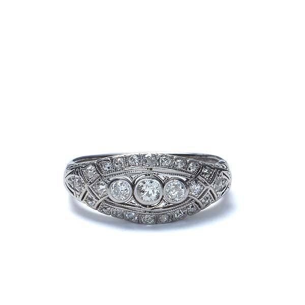 Early Art Deco Diamond  band. #VR151031-08 - Leigh Jay & Co.