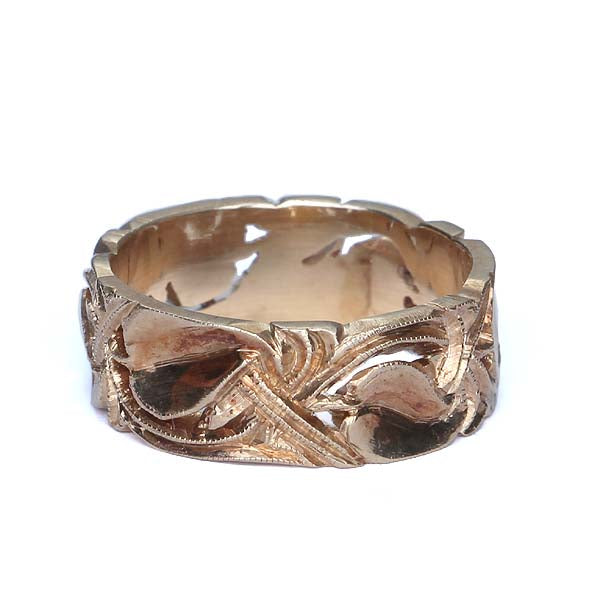 Art Nouveau Wedding band #VR151117-01 - Leigh Jay & Co.