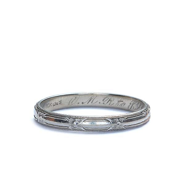 Circa 1932 Wedding band by J.R. Wood & Sons #VR151117-03 - Leigh Jay & Co.