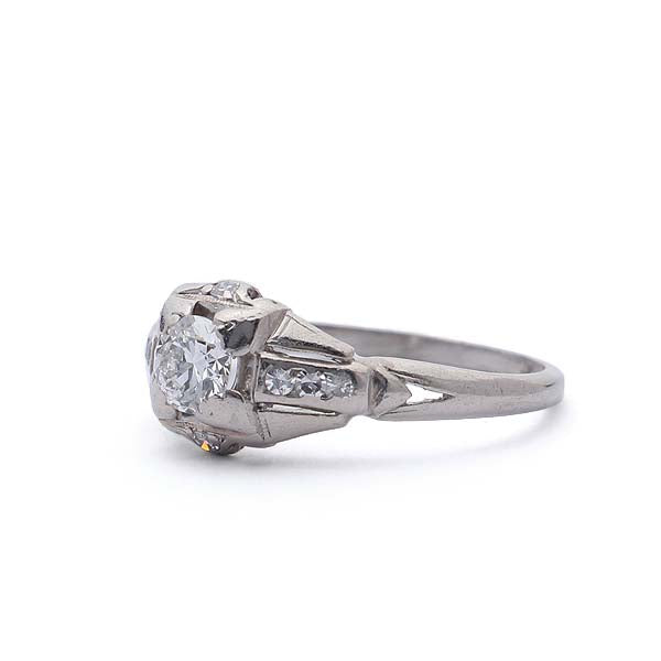 Art Deco Diamond engagement ring. #VR160119-07 - Leigh Jay & Co.