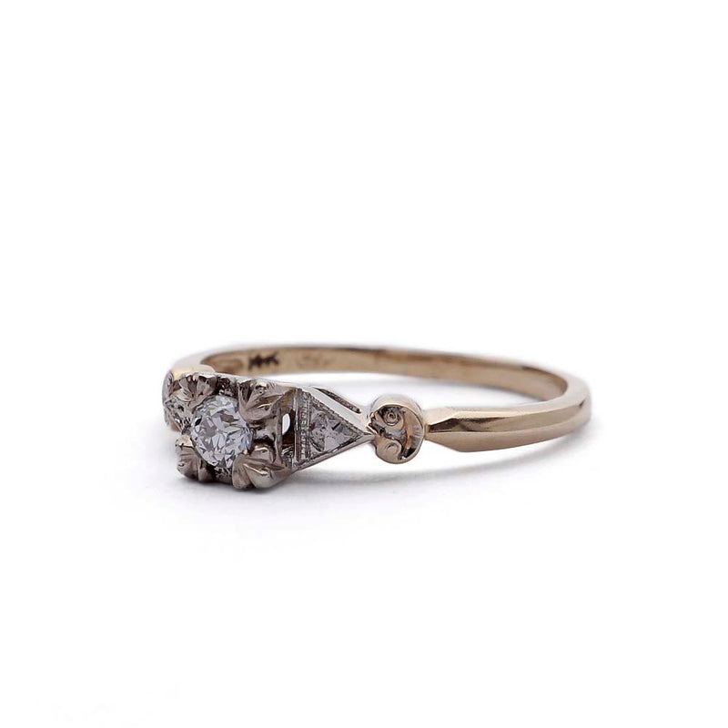Circa 1940s Diamond Engagement Ring by Keepsake #VR160226-03 - Leigh Jay & Co.