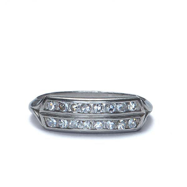 Circa 1930s Double row diamond wedding band #VR160307-12 - Leigh Jay & Co.
