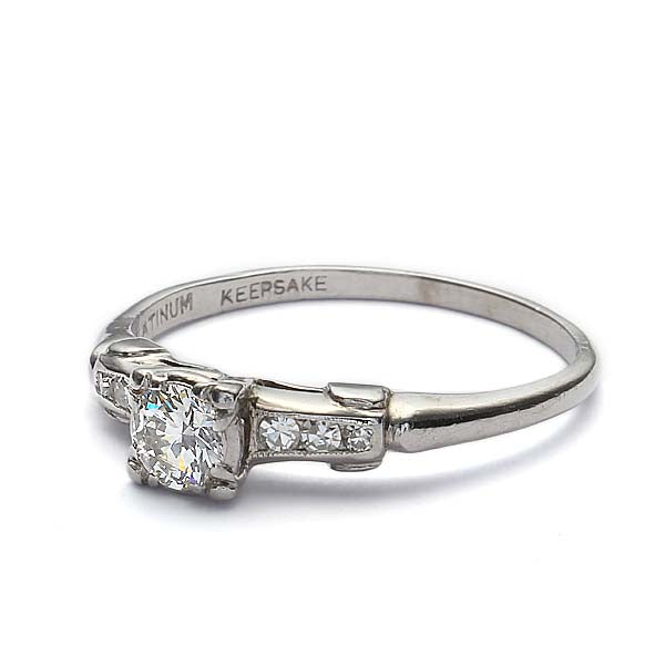 Circa 1950s Engagement Ring #VR160402-08 - Leigh Jay & Co.