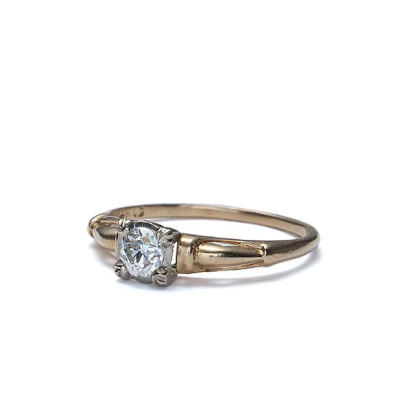 Circa 1940s Diamond Engagement Ring. #VR160421-02 - Leigh Jay & Co.