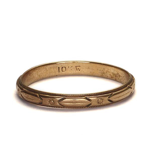 Circa 1940s Wedding band #VR160426-02 - Leigh Jay & Co.