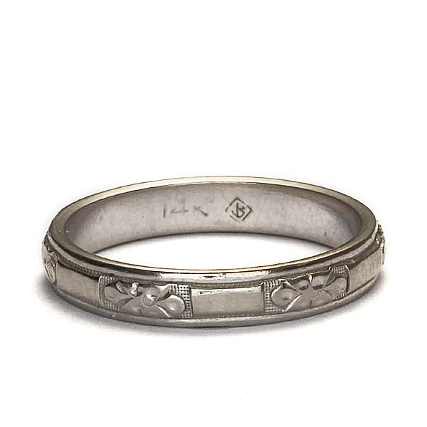 Midcentury Wedding band #VR160426-05 - Leigh Jay & Co.