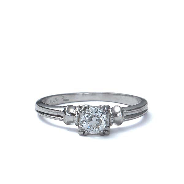 Circa 1940s Solitaire engagement ring #VR160504-05 - Leigh Jay & Co.