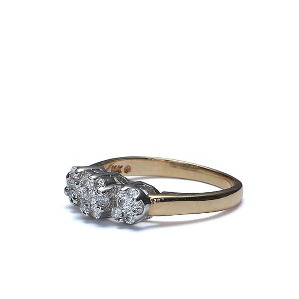 Contemporary Cluster Top Diamond Ring #VR160504-06 - Leigh Jay & Co.