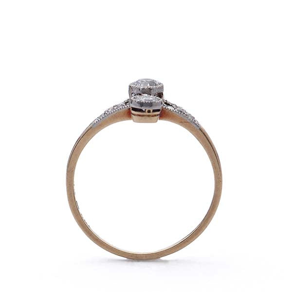 Antique Three Stone  Diamond Ring #VR160505-03 - Leigh Jay & Co.