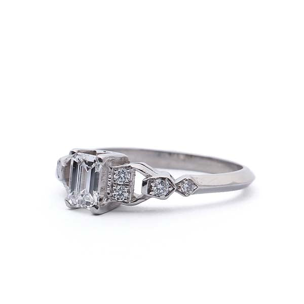 Midcentury Diamond Engagement Ring. #VR160505-11 - Leigh Jay & Co.