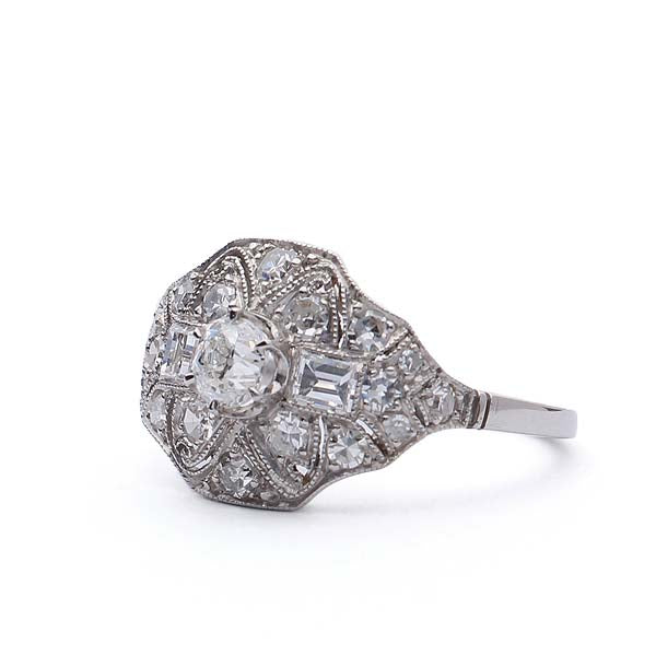 Early Art Deco Diamond Ring #VR160505-15 - Leigh Jay & Co.