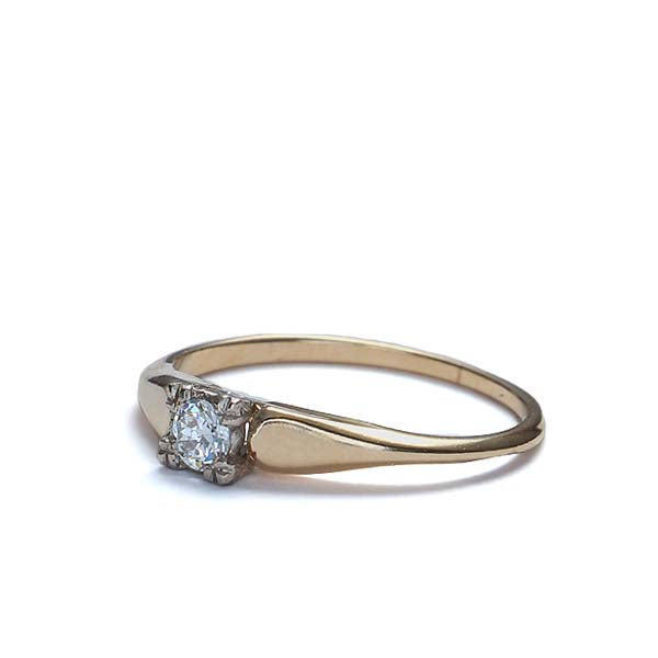 Circa 1940s Solitaire Engagement ring. #VR160506-08 - Leigh Jay & Co.