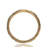 Art Deco 14k Gold Wedding band #VR160526-14 - Leigh Jay & Co.