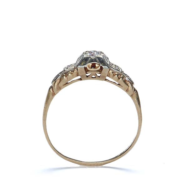 Circa 1930s Diamond Engagement Ring #VR160606-05 - Leigh Jay & Co.