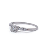 Midcentury Diamond  Engagement ring #VR160614-01 - Leigh Jay & Co.
