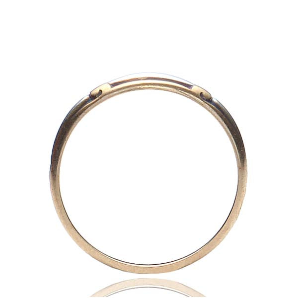 Antique Two-Tone gold Wedding band. #VR160714-02 - Leigh Jay & Co.