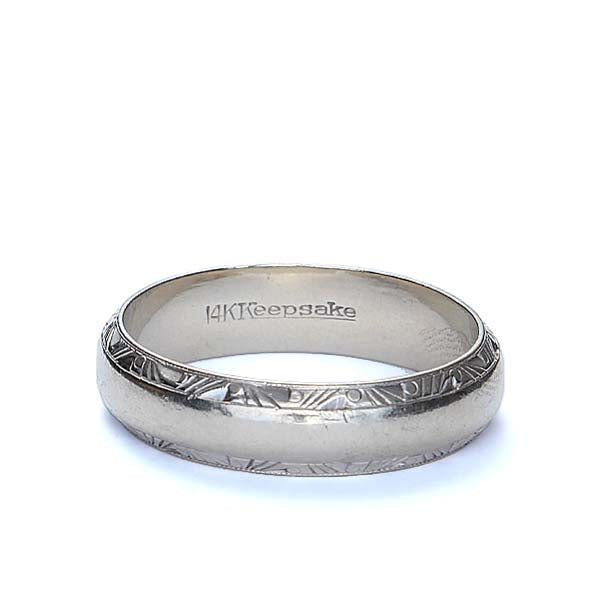Midcentury Gents Wedding band by Keepsake #VR160721-01 - Leigh Jay & Co.