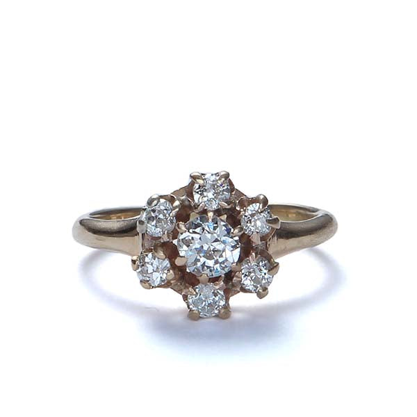 Antique Diamond Cluster Ring #VR160907-03 - Leigh Jay & Co.